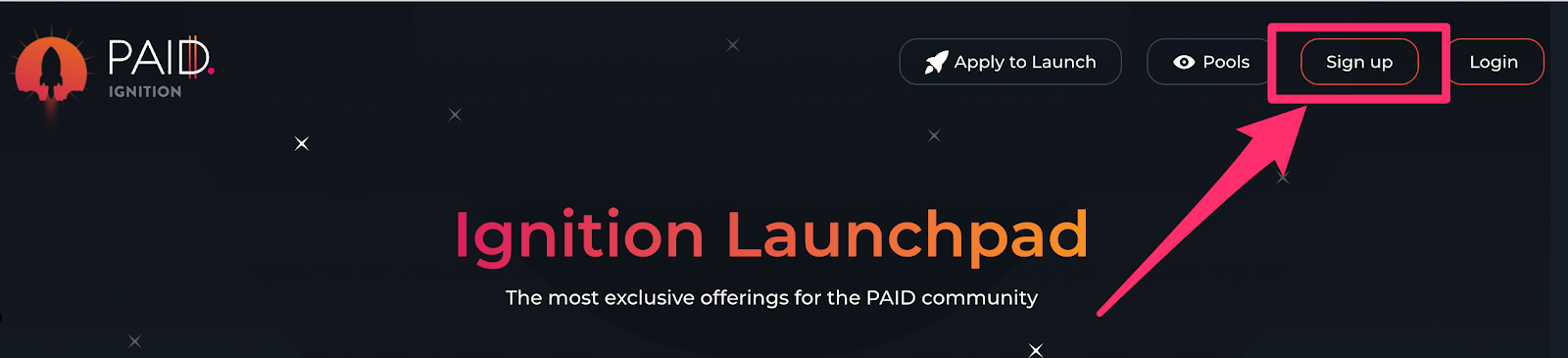 Signup Paid Ignition